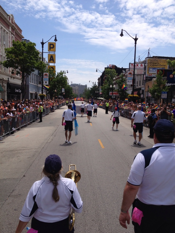 CapPride marching in Chicago's Pride Parade.